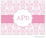 Rosanne Beck Stationery - Floral Damask - Pink