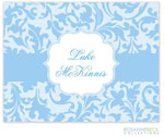 Rosanne Beck Stationery - Floral Border - Blue