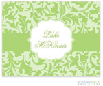 Rosanne Beck Stationery - Floral Border - Green