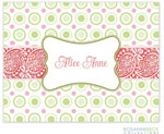 Rosanne Beck Stationery - Bella - Coral