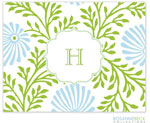Rosanne Beck Stationery - Lime Floral - Blue