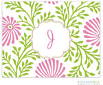 Rosanne Beck Stationery - Lime Floral - Pink
