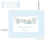Rosanne Beck Stationery - Little Clothes - Blue