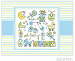 Rosanne Beck Stationery - Oh Baby - Blue