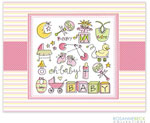 Rosanne Beck Stationery - Oh Baby - Pink