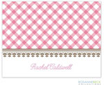 Rosanne Beck Stationery - Gingham - Pink