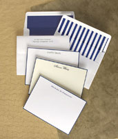 Rytex Stationery - Hand Bordered Cards (Navy)
