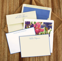 Rytex Stationery - Hand Bordered Cards (Periwinkle)