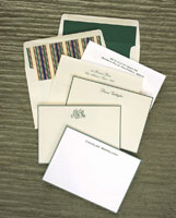 Rytex Stationery - Hand Bordered Cards (Hunter Green)