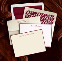 Rytex Stationery - Wine Hand Bordered Correspondence Cards