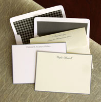 Rytex Stationery - Hand Bordered Cards (Grey)