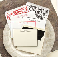 Rytex Stationery - Hand Bordered Cards (Black or Red)