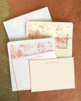 Rytex Stationery - Hand Bordered Cards (Peach)