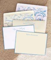 Rytex Stationery - Hand Bordered Cards (Soft Blue)