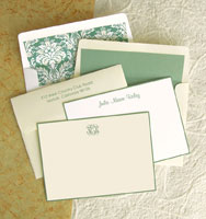 Rytex Stationery - Hand Bordered Cards (Sage)