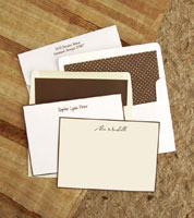 Rytex Stationery - Hand Bordered Cards (Brown)
