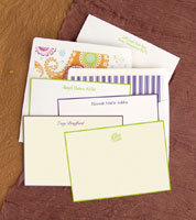 Rytex Stationery - Hand Bordered Cards (Apple Green or Purple)