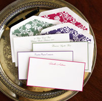 Rytex Stationery - Hand Bordered Cards (Elegant Slender)