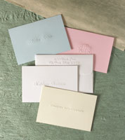 Rytex Stationery - Blind Embossed Informal Folded Notes