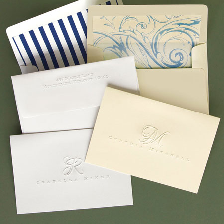 picture about Embossed Stationery identify Rytex Stationery - Riker Blind Embossed Foldnotes: Far more Than