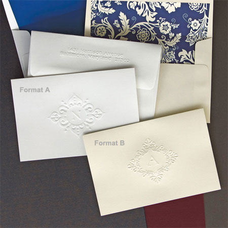 Rytex Stationery - Baroque Blind Embossed Foldnotes