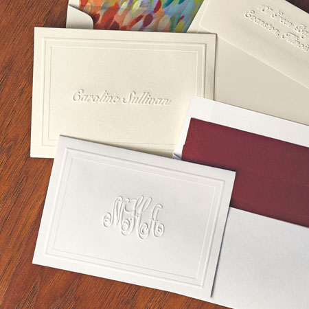 picture about Embossed Stationery named Rytex Stationery - Blind Embossed Panel Casual Foldnotes