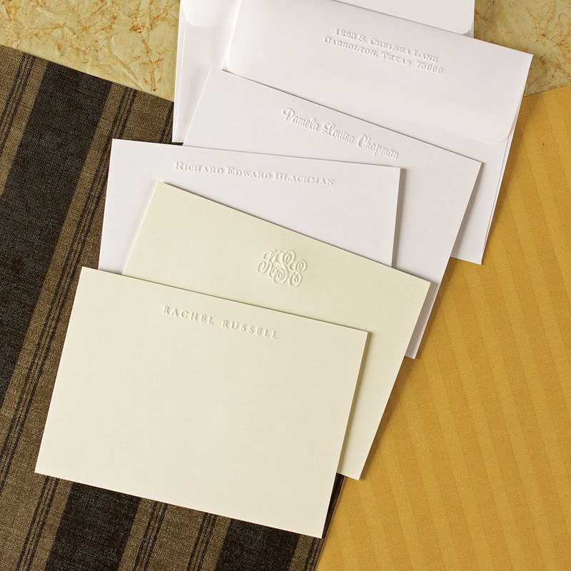 photo regarding Embossed Stationery named Rytex Stationery - Classic Embossed Playing cards: A lot more Than Paper