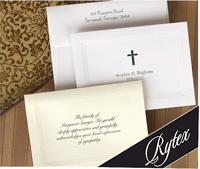 Rytex Stationery - Tri-Bordered Sympathy Notes