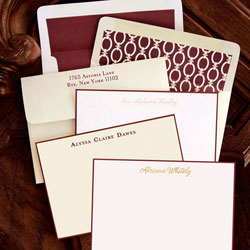 Rytex Stationery - Hand Bordered Cards (Wine)