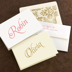 Rytex Stationery - Script First Name Foldnotes