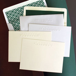 Rytex Stationery - Callaway Blind Embossed Cards