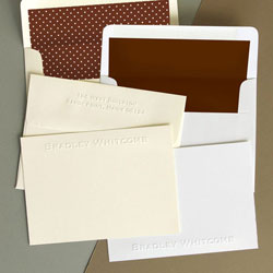 Rytex Stationery - Whitcomb Blind Embossed Cards