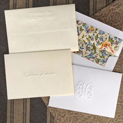 Rytex Stationery - Classic Blind Embossed Informal Folded Notes