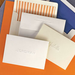 Rytex Stationery - Blind Embossed Single Name Folded Notes