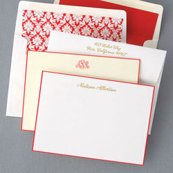 Rytex Stationery - Hand Bordered Cards (Red)