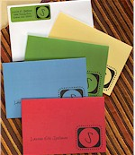 Rytex Stationery - Brilliant Initial Foldnotes& Address Labels