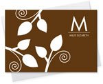 Spark & Spark Stationery (Poised Leaves - Brown)