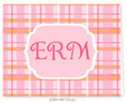 Take Note Designs - Stationery/Thank You Notes (Orange Sherbit & Pink Plaid)