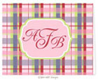 Take Note Designs - Stationery/Thank You Notes (Preppy Girl Madras Tag)