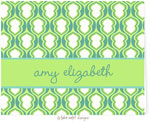 Take Note Designs - Stationery/Thank You Notes (Tiffany and Lime Hourglass Graduation)