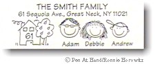 Pen At Hand Stick Figures - Address Label #4