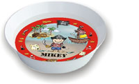 Pen At Hand Stick Figures - Melamine Bowls (Pirate)