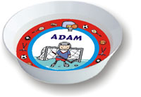 Pen At Hand Stick Figures - Melamine Bowls (Sports Border)