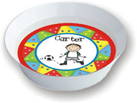 Pen At Hand Stick Figures - Melamine Bowls  (Create-Your-Own Bowl with Star Border)