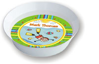 Pen At Hand Stick Figures - Melamine Bowls (Water Boy)