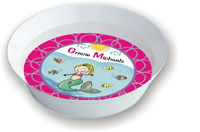 Pen At Hand Stick Figures - Melamine Bowls (Water Girl)