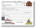 Pen At Hand Stick Figures - Camp Fill-in Postcards (Bunk Girl)