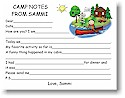 Pen At Hand Stick Figures - Camp Fill-in Postcards (Canoe Boy)