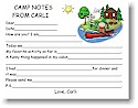 Pen At Hand Stick Figures - Camp Fill-in Postcards (Canoe Girl)