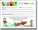 Pen At Hand Stick Figures - Camp Fill-in Postcards (Letters - Boy)